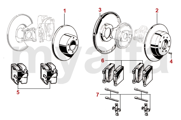 alfa romeo bremsscheiben kl tze bremse hinten. Black Bedroom Furniture Sets. Home Design Ideas