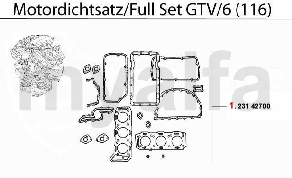 Motordichtsatz GTV/6