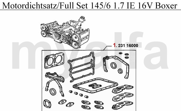 Motordichtsatz 1.7 IE 16V