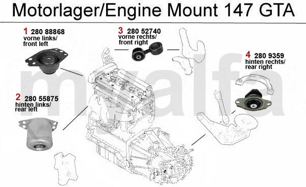 alfa romeo 3 2 v6 24v  gta - motorlager - motor