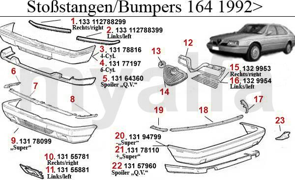 Stoßstange/Kühlergrill/Zierleiste Bj. 92