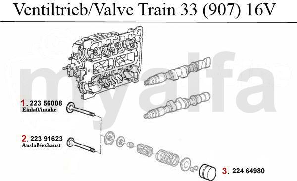 Ventiltrieb (907) 1.7 IE 16V