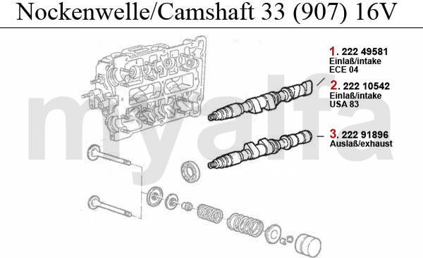 Nockenwelle (907) 1.7 IE 16V
