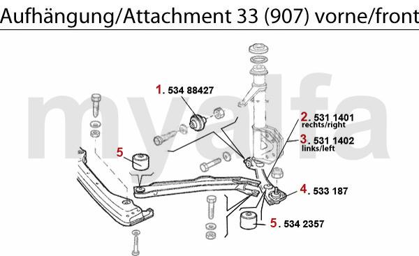 Aufhängung (907) vorne