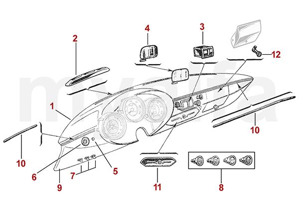 Armaturenbrett / Aschenbecher bis '62