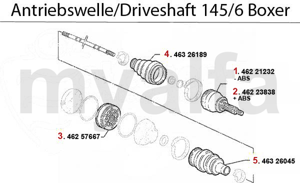 Antriebswelle 1.4/1.6/1.7/IE/16V Boxer B