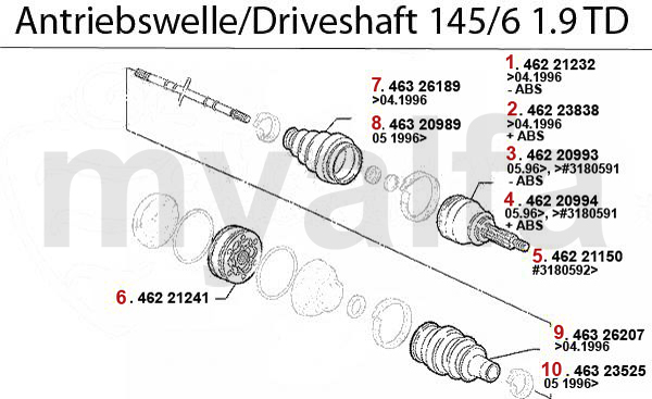 Antriebswelle 1.9 TD