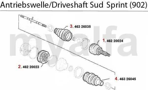 Antriebswelle Sud/Sprint (902) 1.3/1.5/1