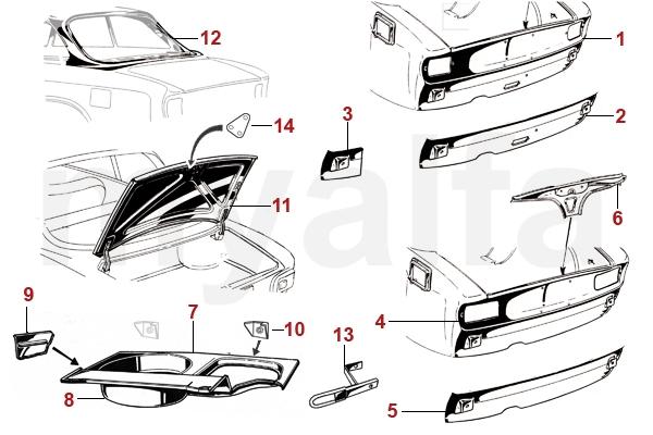 alfa romeo hinterwagen blechteile karosserie gt. Black Bedroom Furniture Sets. Home Design Ideas