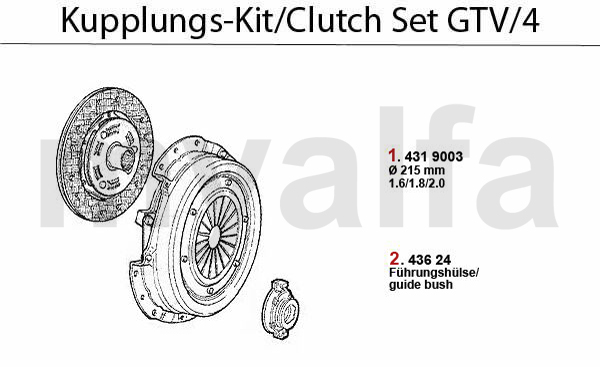 Kupplungs-Kit GTV/4