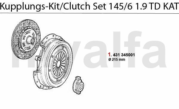 Kupplungs-Kit 1.9 TD KAT.