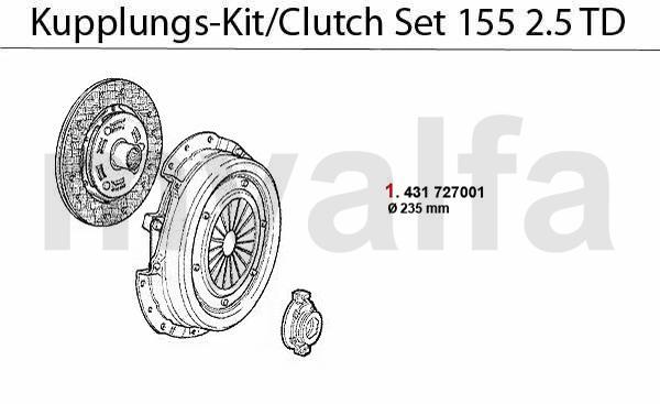 Kupplungs-Kit 2.5 TD