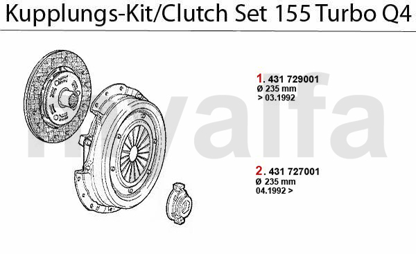 Kupplungs-Kit Turbo Q4 16V