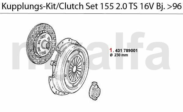 Kupplungs-Kit TS 16V Bj. >4.96