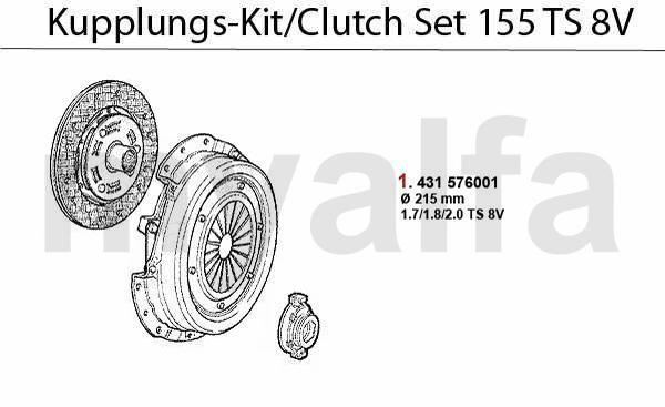 Kupplungs-Kit TS 8V