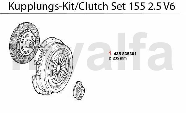 Kupplungs-Kit 2.5 V6