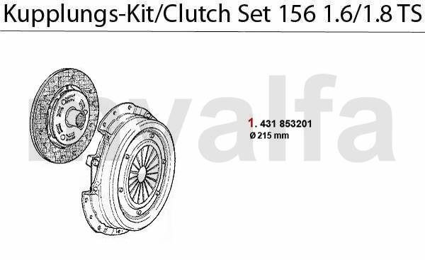 Kupplungs-Kit 1.6/1.8 TS 16V