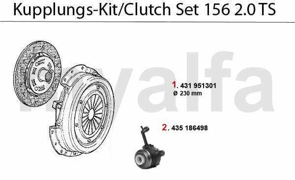 Kupplungs-Kit 2.0 TS 16V
