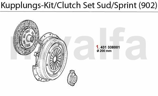 Kupplungs-Kit Sud/Sprint (902) 1.3/1.5/1