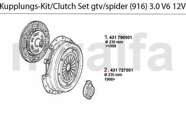 Kupplungs-Kit 3.0 V6 12V