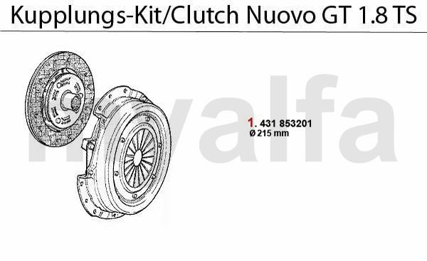 Kupplungs-Kit 1.8 TS