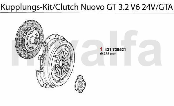 Kupplungs-Kit 3.2 V6 24V/GTA