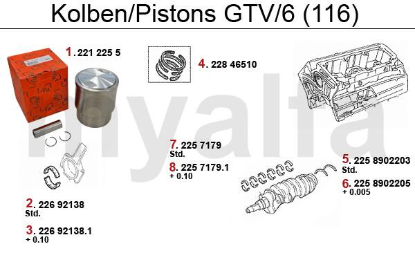 Kolben/Lager GTV/6