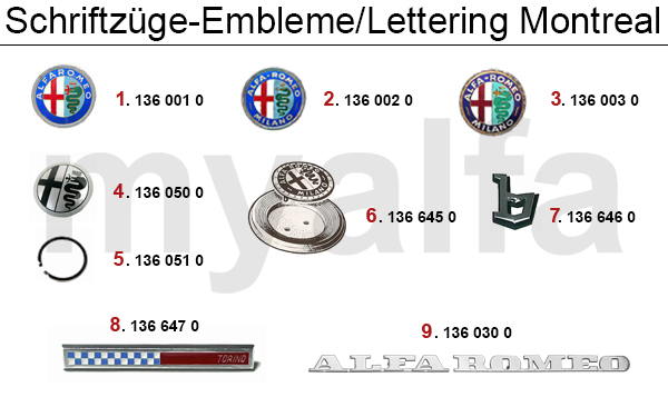 Schriftzüge/Embleme