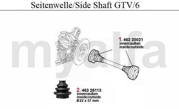 Seitenwelle GTV/6