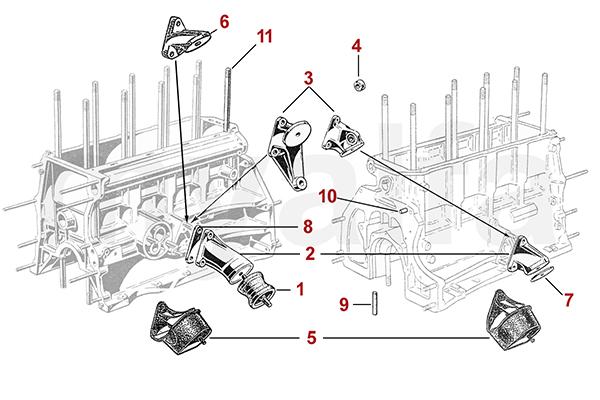 Motorblock / Aufhängung