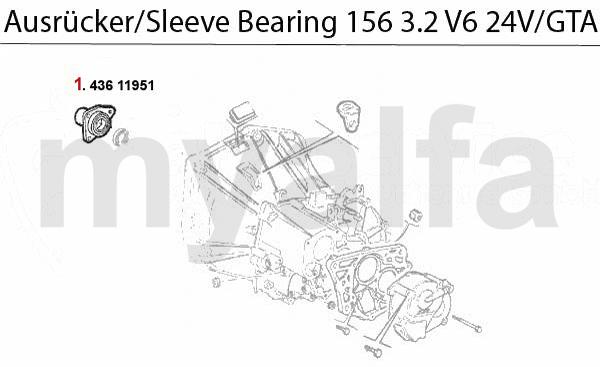 Führungshülse f. Ausrücker 3.2 V6 24V/GT