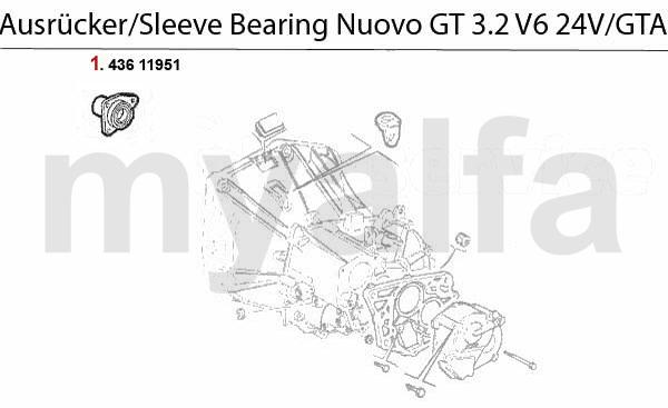 Führungshülse 3.2 V6 24V/GTA