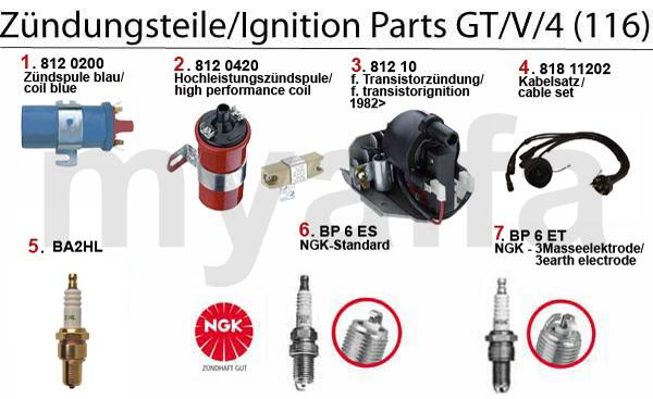 Zündungsteile GT/V/4 (116)